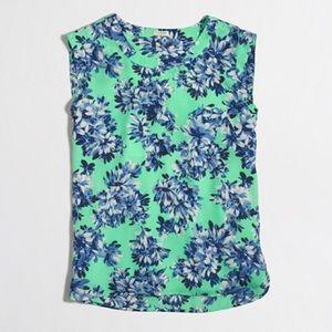 J crew Floral blouse